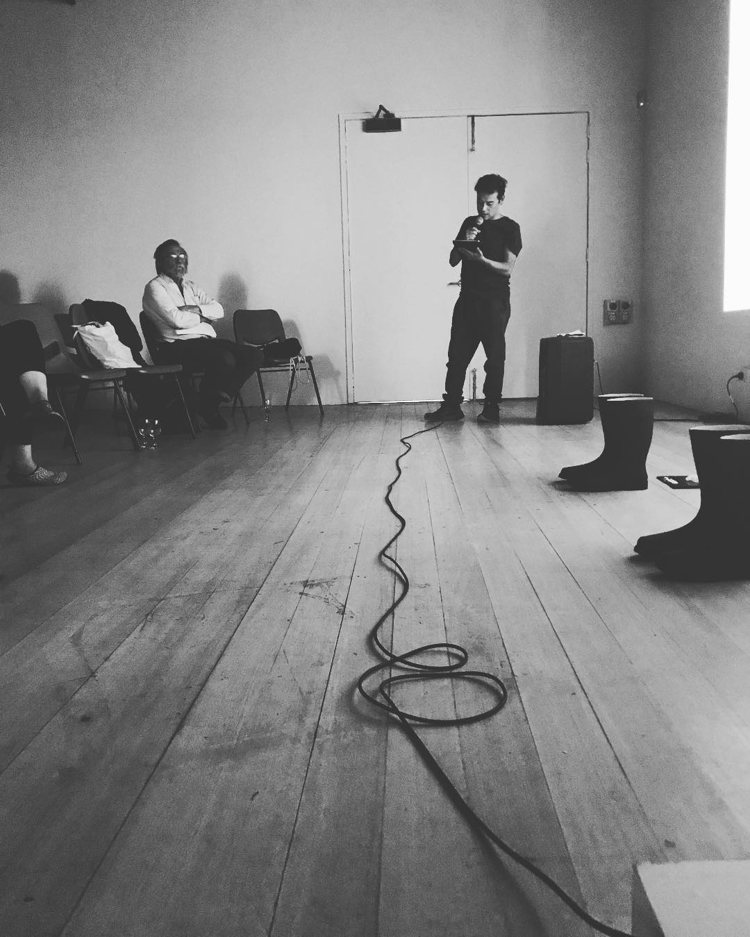 Eduardo Cruces, Contemporary Art Symposium, image credit: Philippa Stafford (2018)