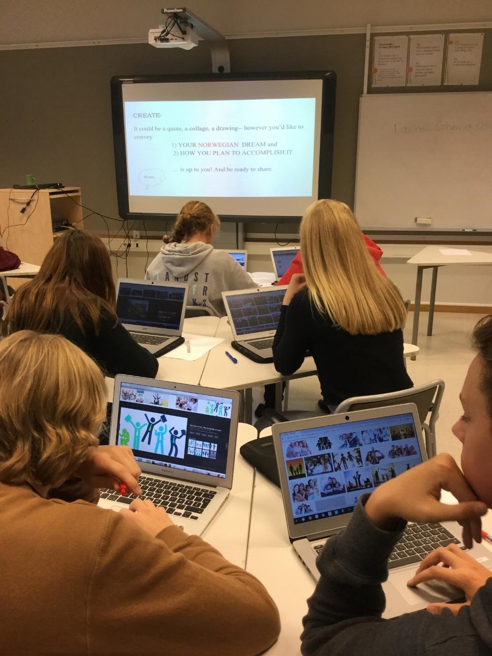 Creating Dream collages. Flatestad skole, Oppegard.