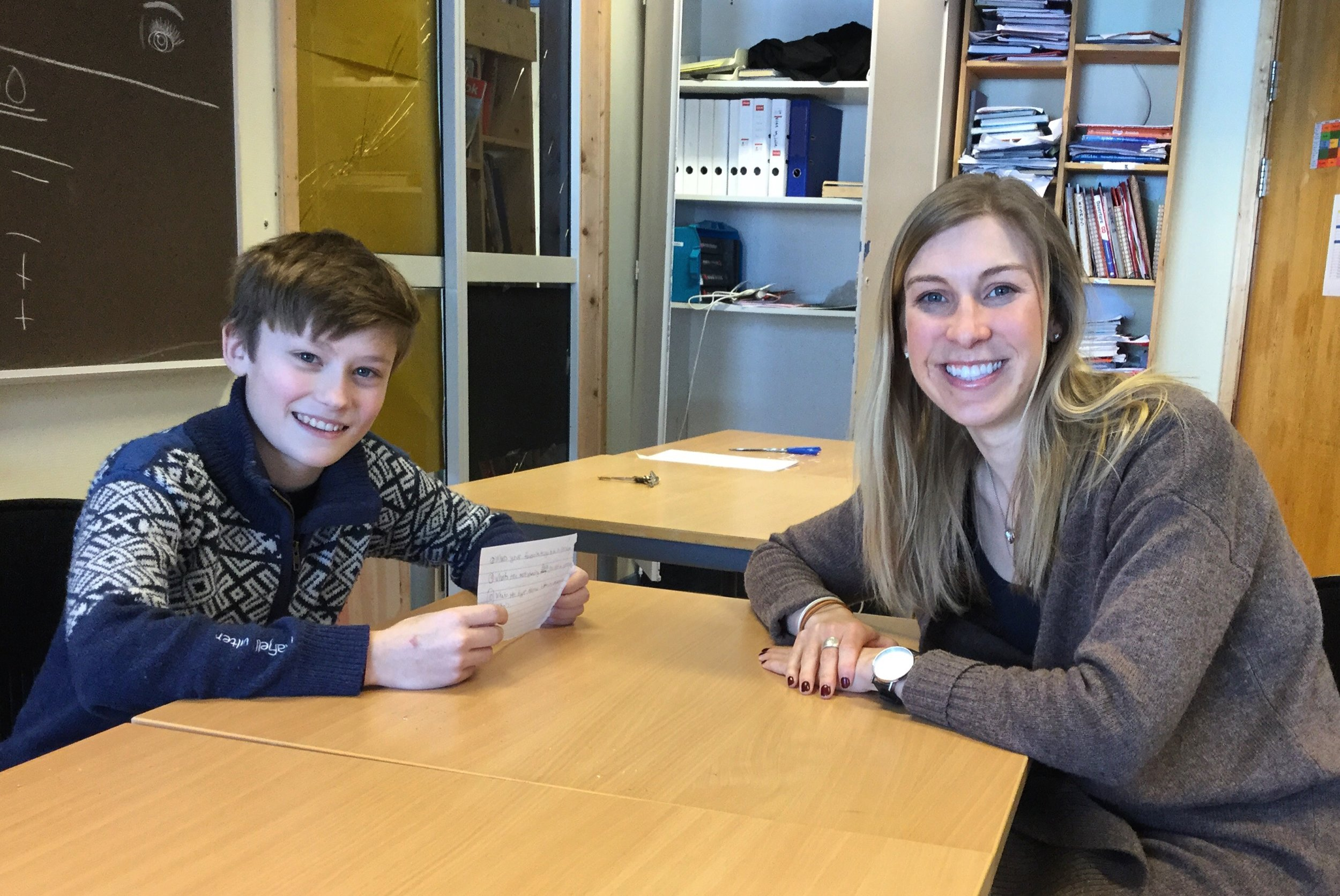 Markus, an 8th grade student, interviewed me about my life in the USA for his school newspaper.