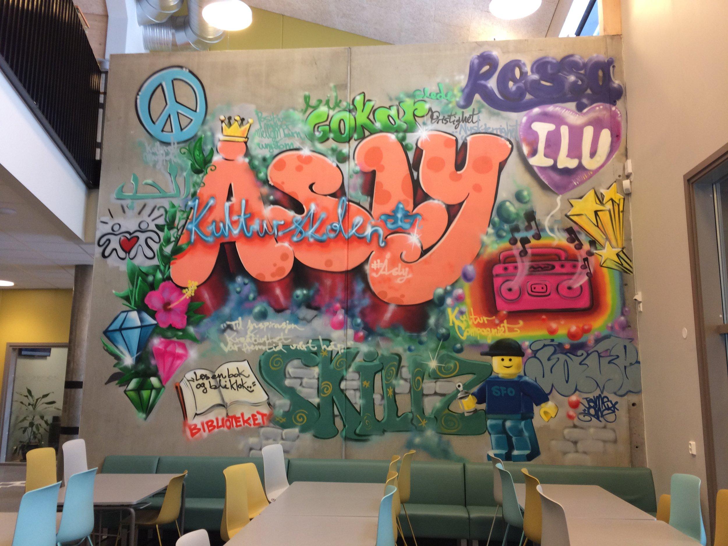 Student designed cafeteria art!