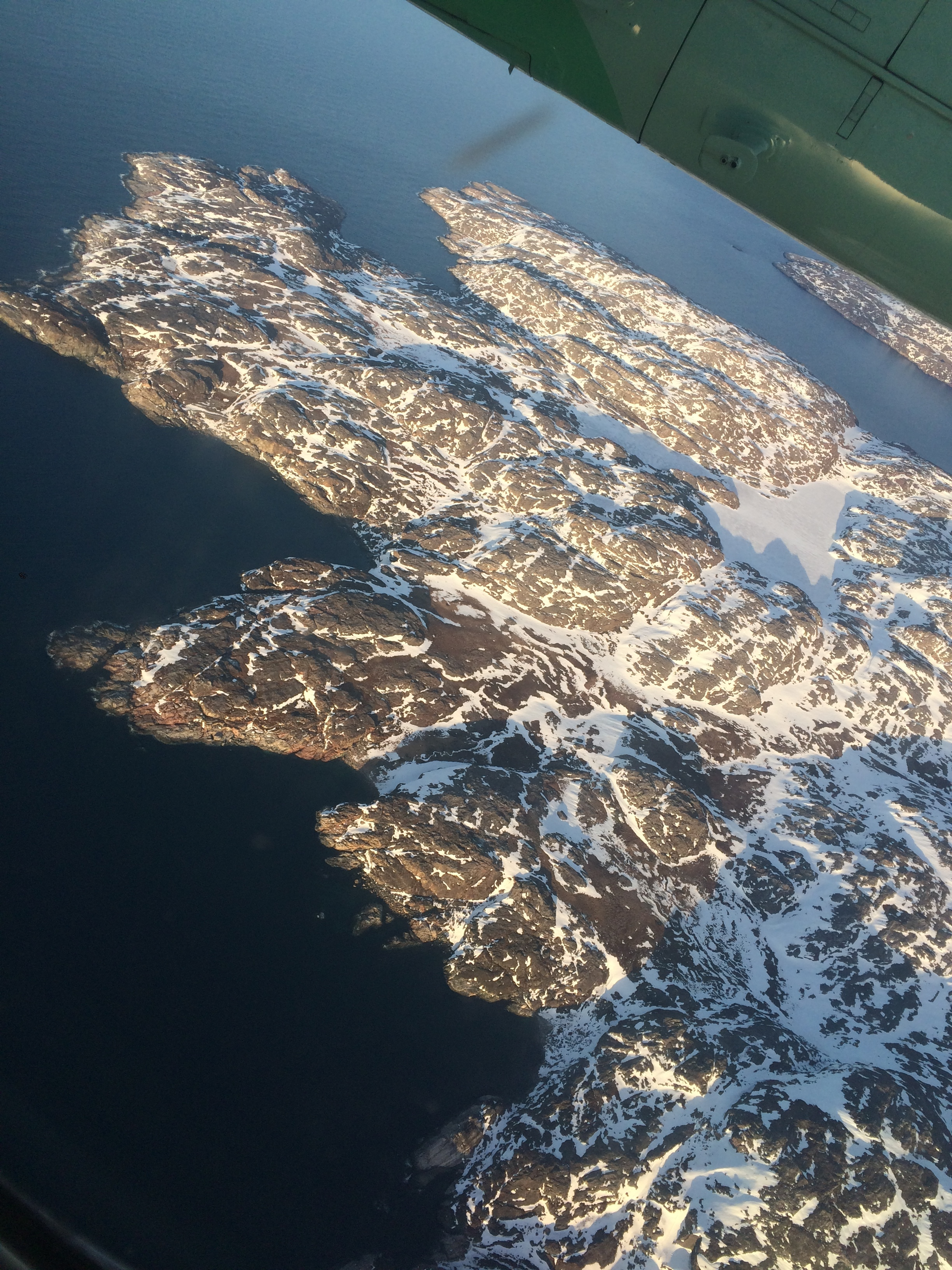 Flying in to Vardø, the easternmost town in Norway.
