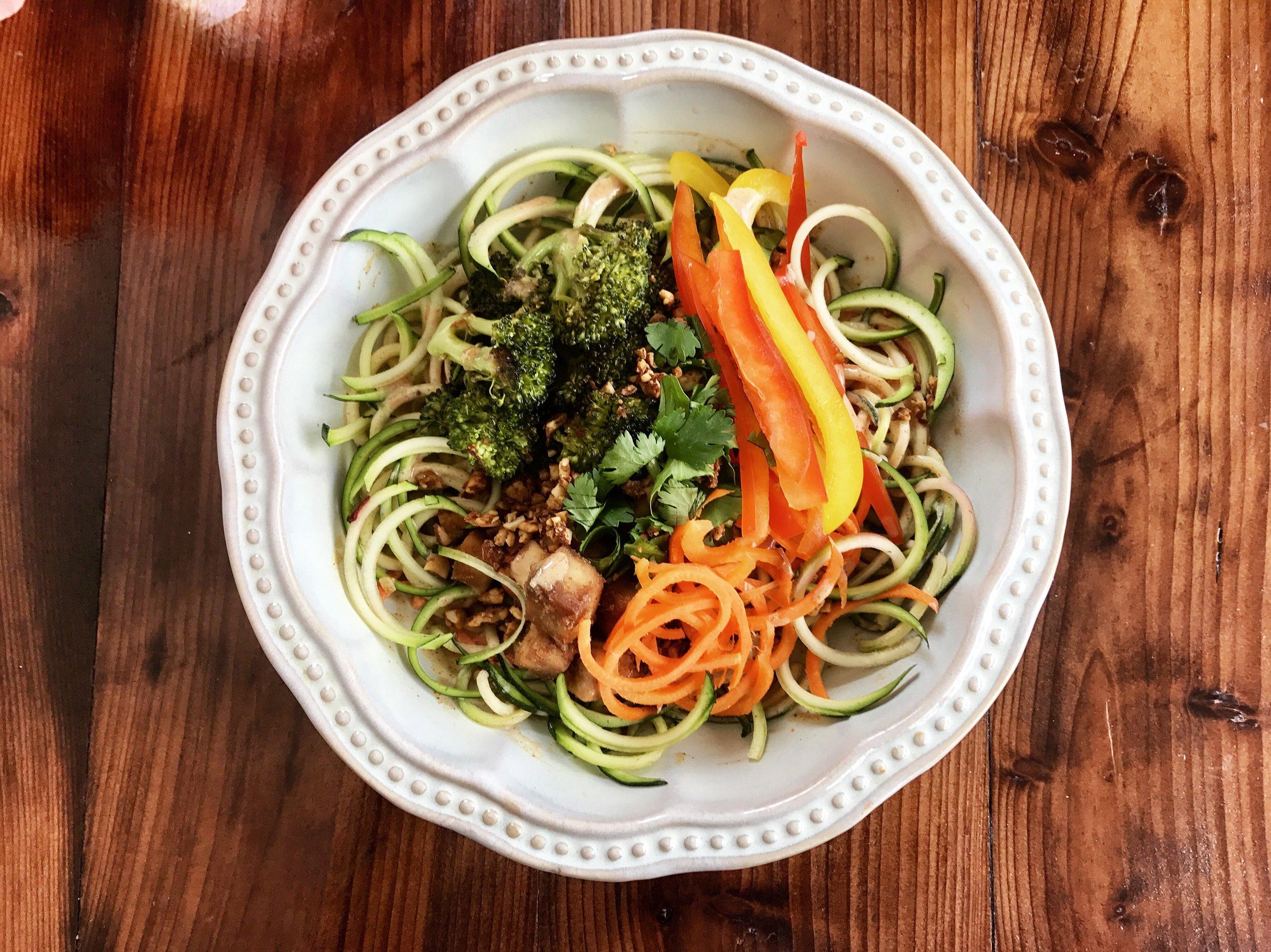 zucchini thai bowl