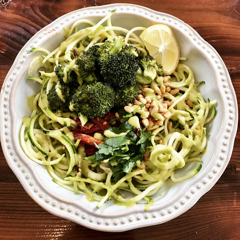 zucchini pesto bowl