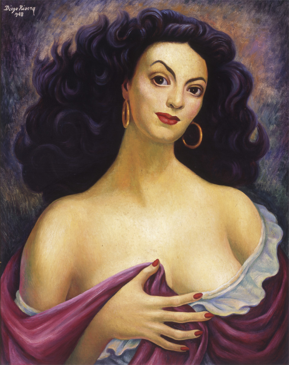 Diego Rivera, Portrait of María Félix. Courtesy of San Diego Museum of Art