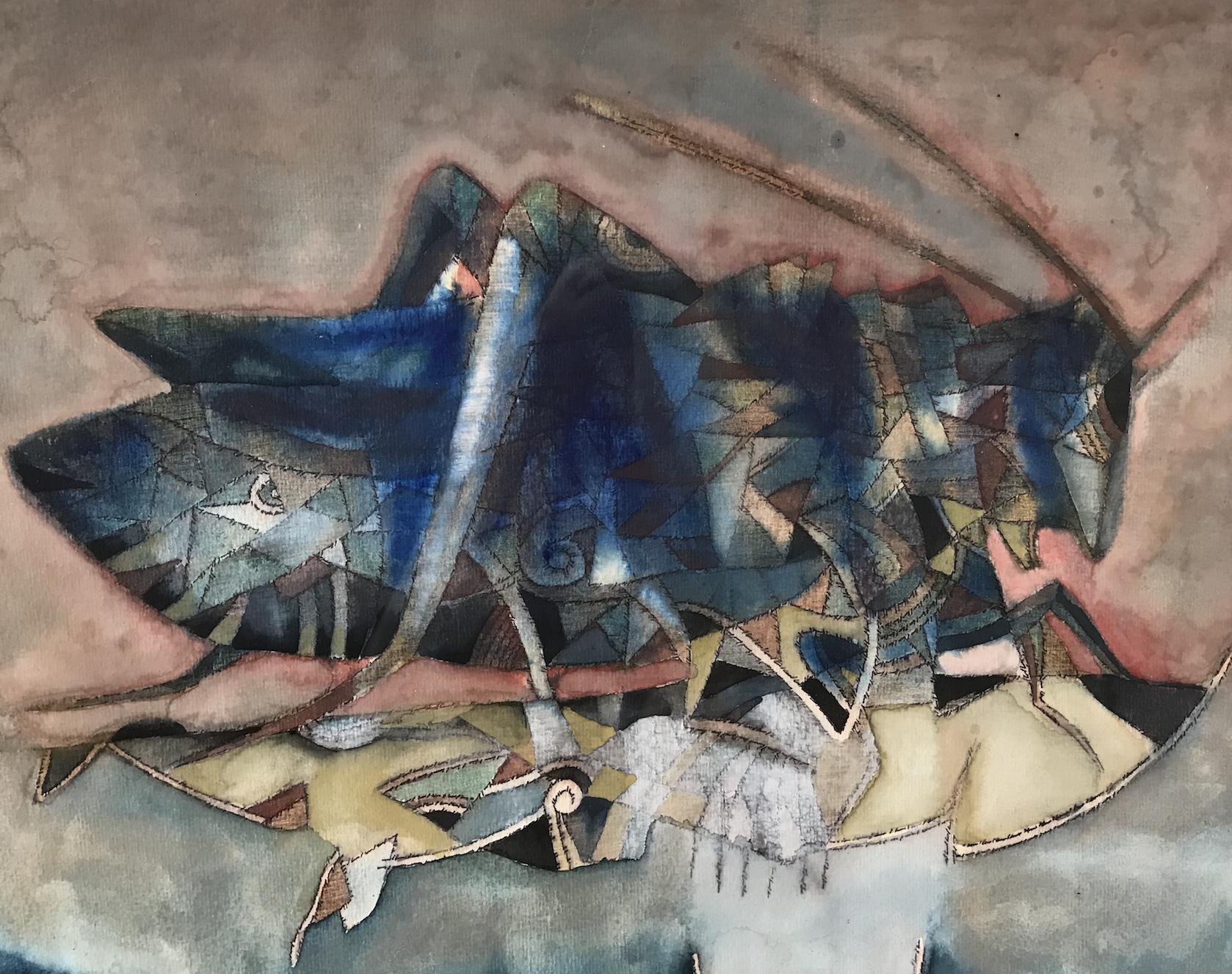 Blue Grasshopper  by Francisco Toledo