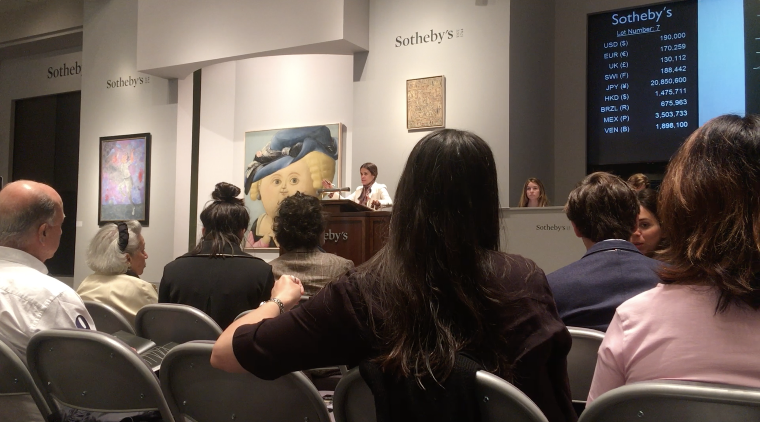 Image from 2016 Sotheby's Latin American art sale in New York.