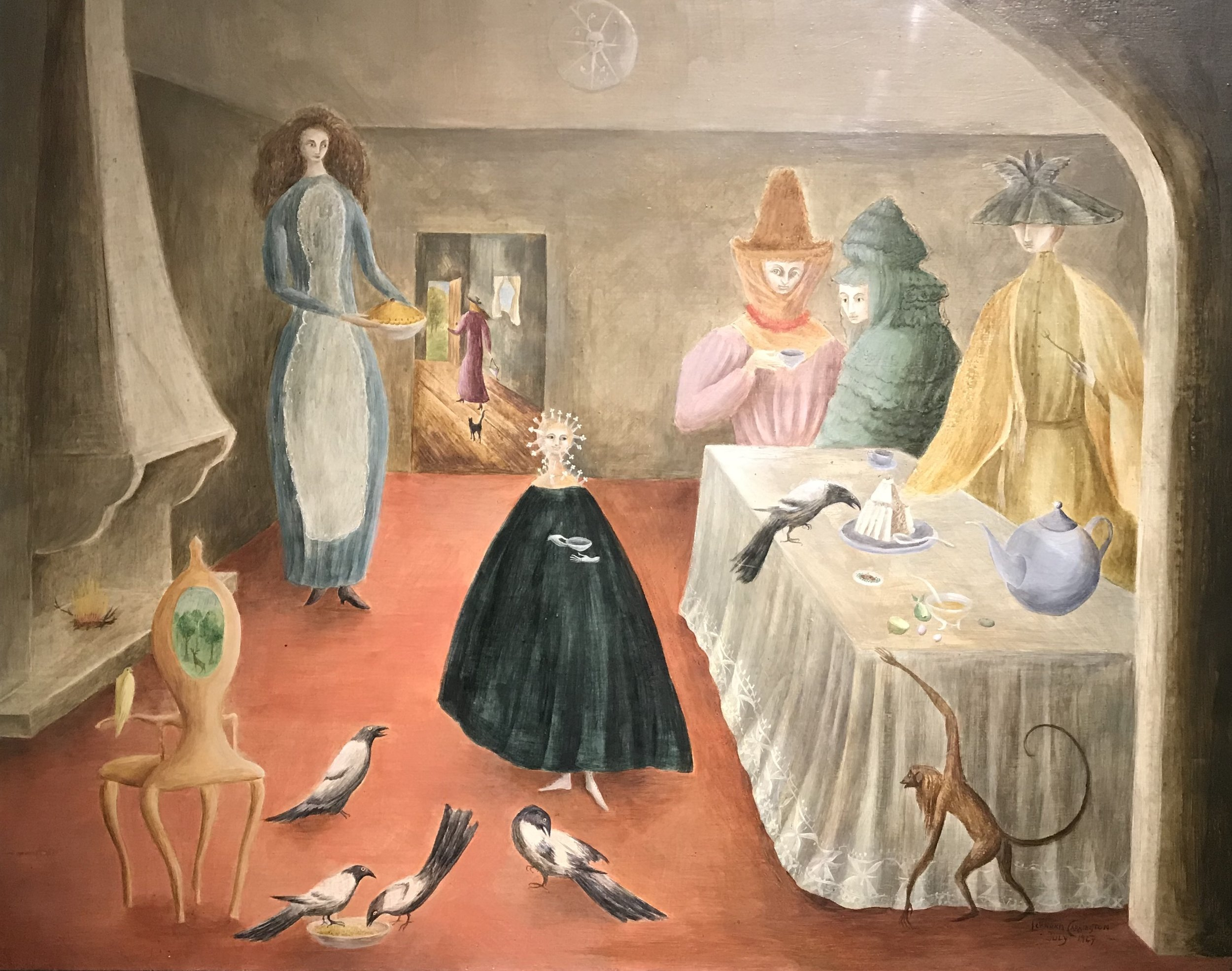 Solteronas (The Old Maids)  by Leonora Carrington, 1947. From the collection of Robert and Lisa Sainsbury,  Sainsbury Center for Visual Arts , East Anglia, Norwich, England.