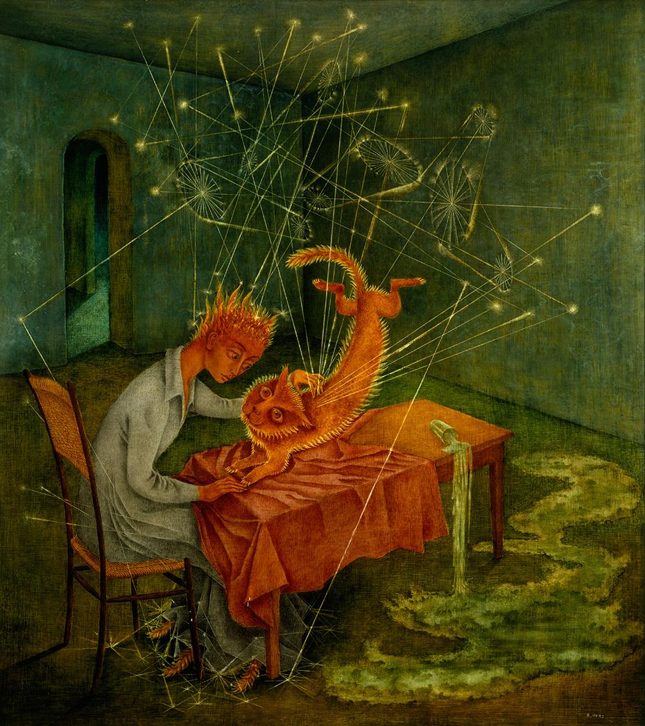 remedios varo Simpatía (La rabia del gato) oil painting