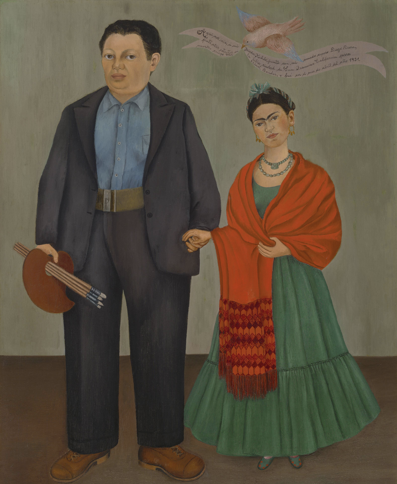 Frida Kahlo - Frieda and Diego Rivera (1931), courtesy of San Francisco MoMA