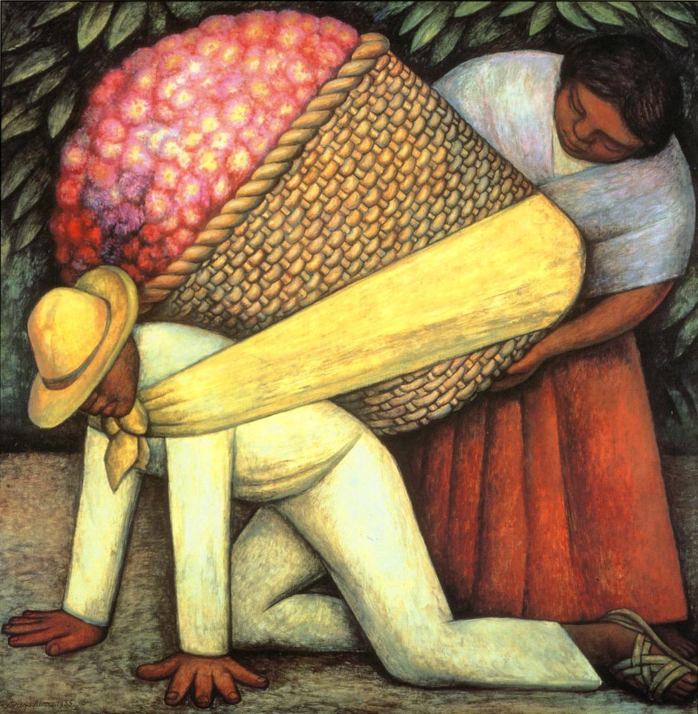 The Flower Carrier by Diego Rivera, courtesy of San Francisco MoMA