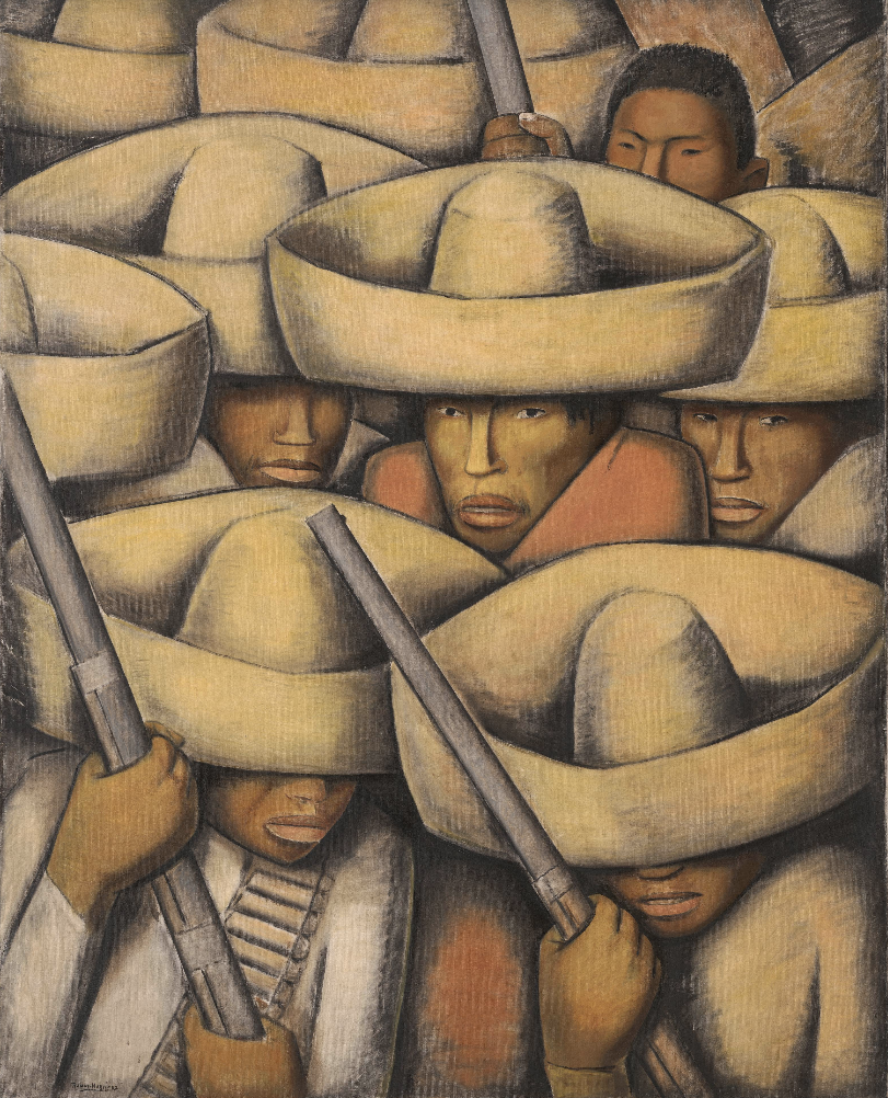 Zapatistas (ca 1932) by Alfredo Ramos Martinez, courtesy of San Francisco MoMA