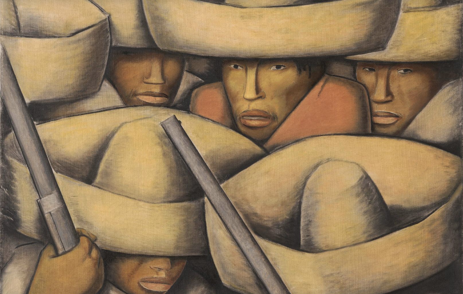 close up of Zapatistas by Alfaro Ramos Martinez