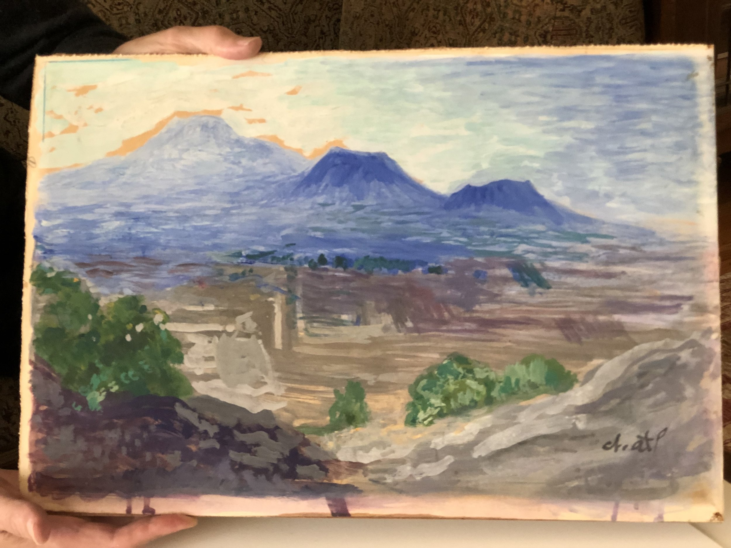 landscape painting by Dr. Atl