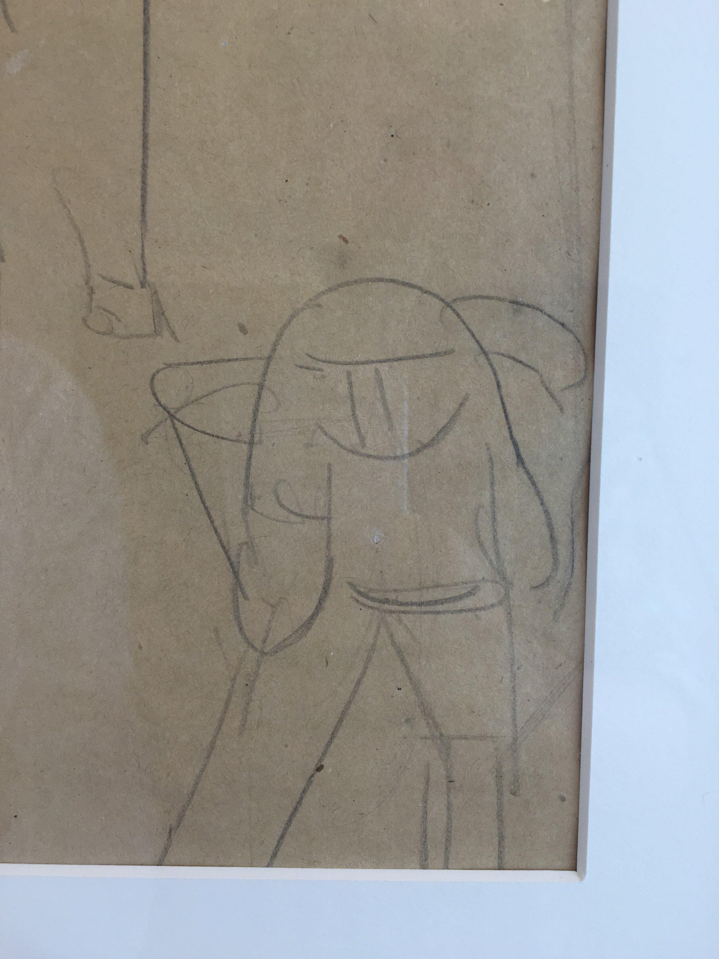 Rufino Tamayo drawing - Magave Pickers (close up)