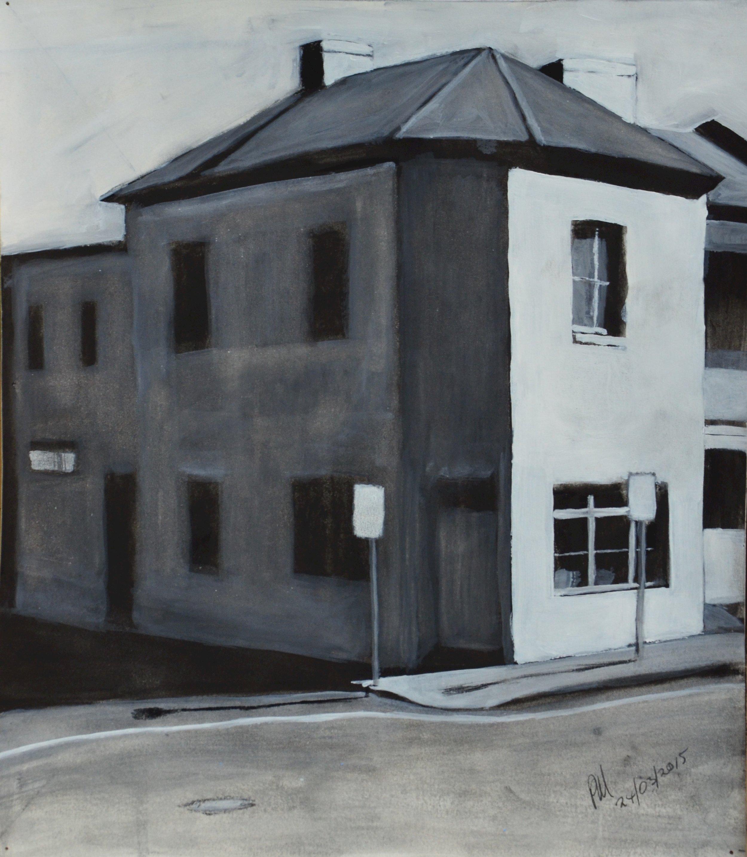 SOLD 2015-027 Sketch for Blue Corner, Enmore