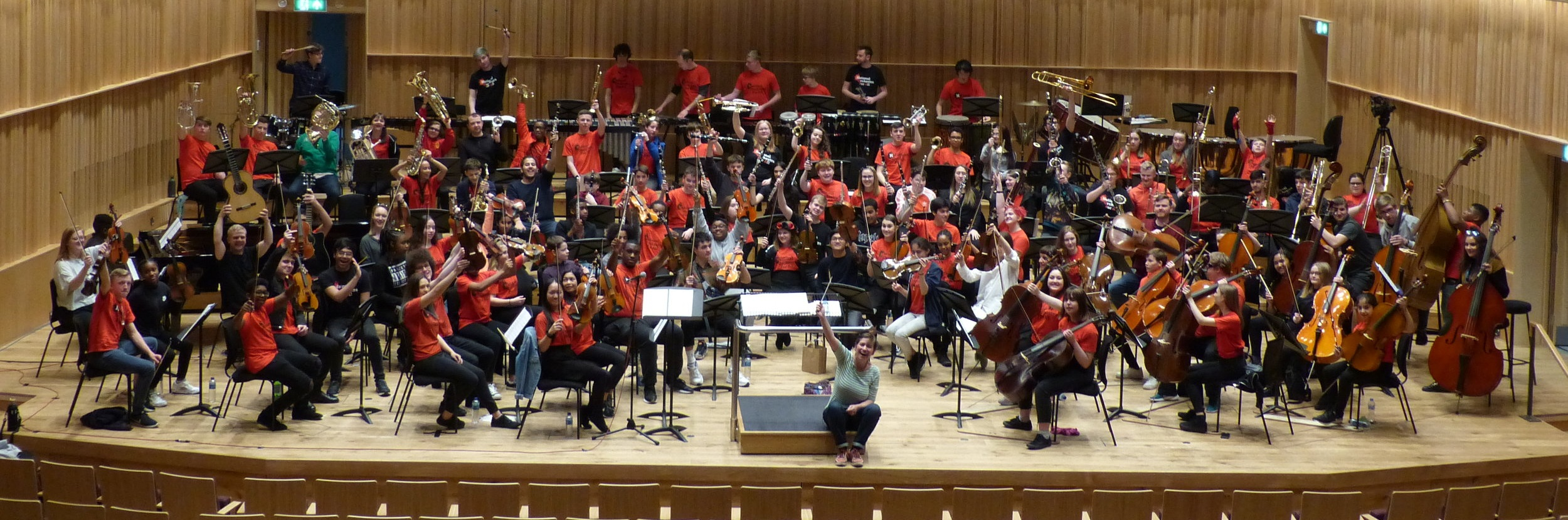 The National Orchestra for All on stage at the Royal Birmingham Conservatoire