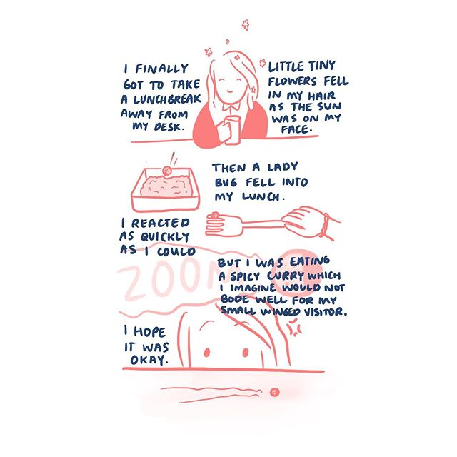 Why do lady bugs inspire such fond feelings? #illustrations #art #illustration #drawing #illustrator #artwork #sketch #artist #digitalart #sketchbook #draw #drawings #instaart #artoftheday #illustrate #arts #painting #artsy #picture #design #draweveryday #pen #drawingoftheday #pencil #artgallery #artlife #ink #artstagram #pictures #doodle