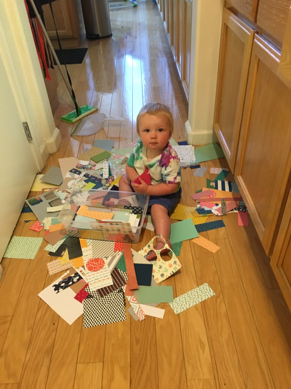 The only way he would let mom finish a craft