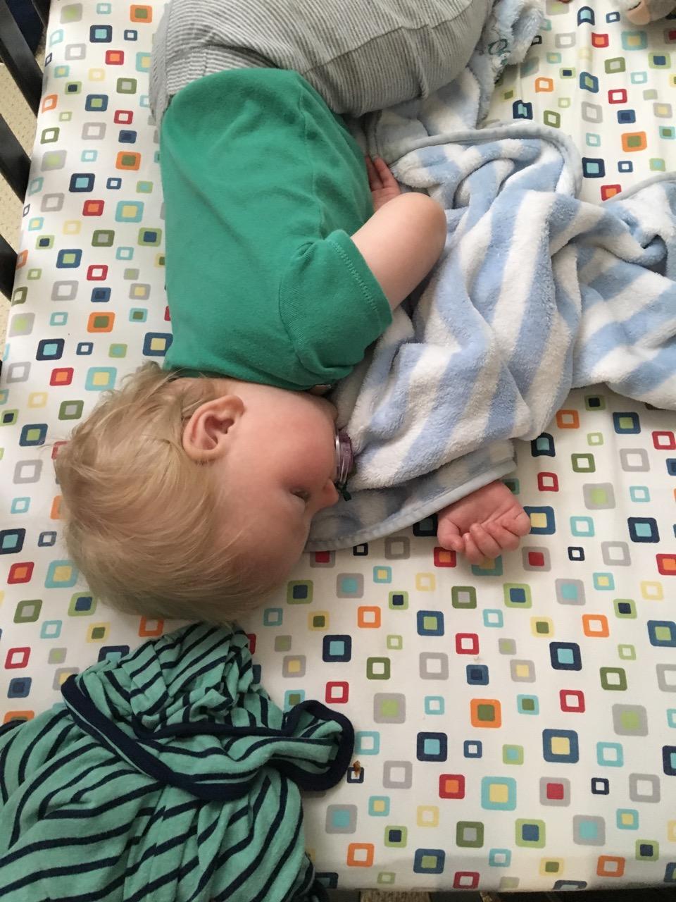 A rare calm nap moment