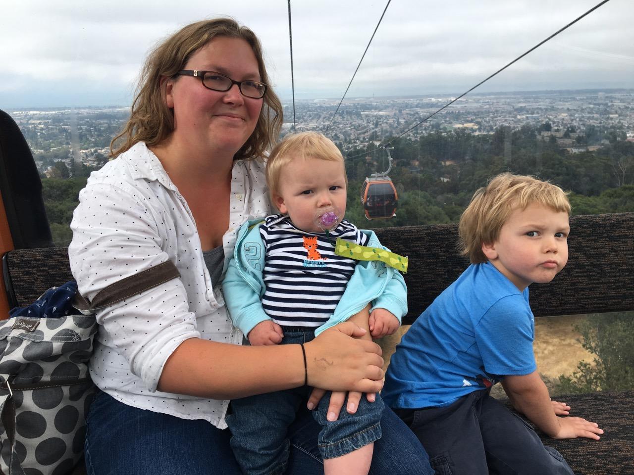Riding the gondolas at the zoo