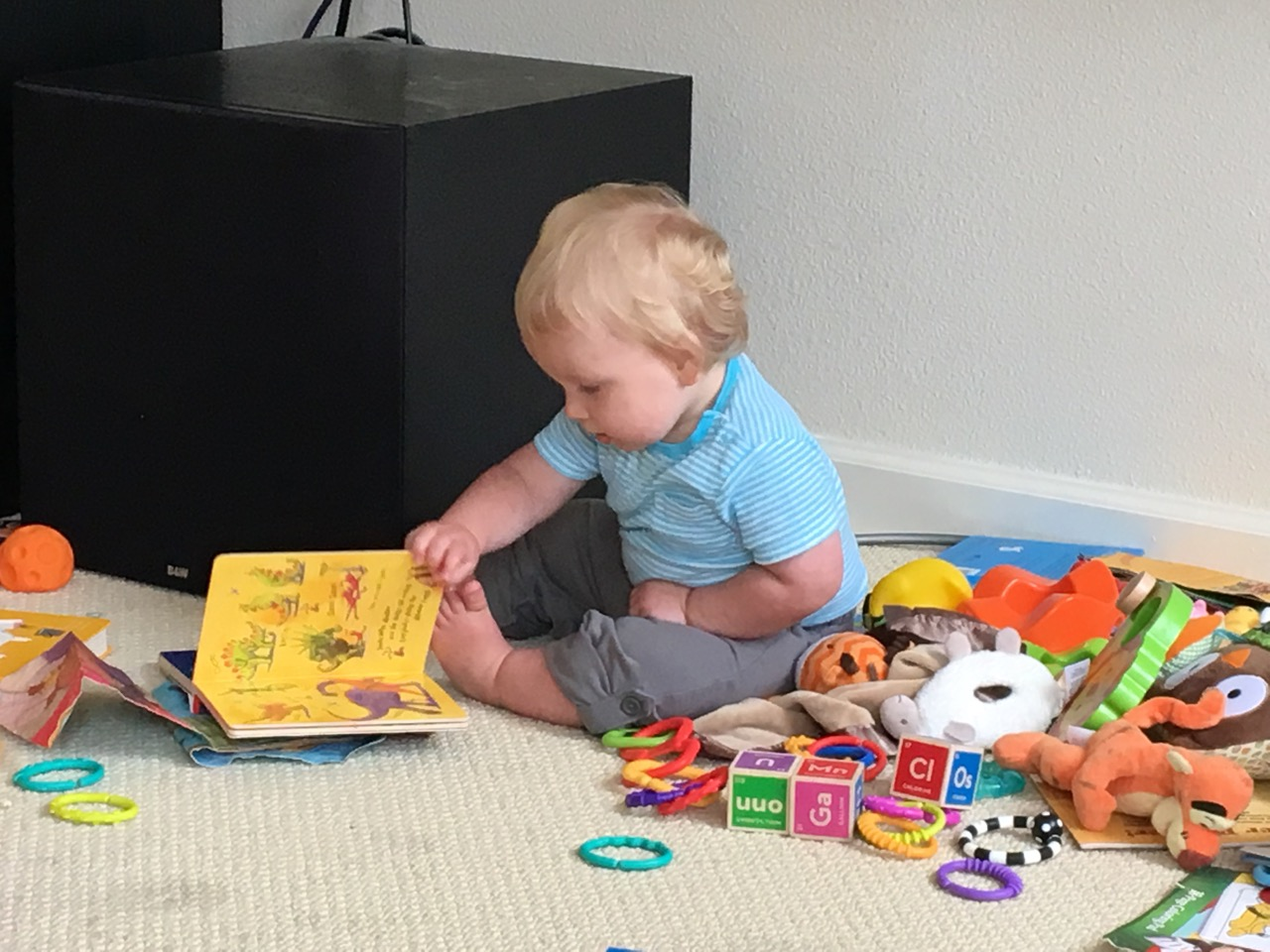 """Reading"" his books"