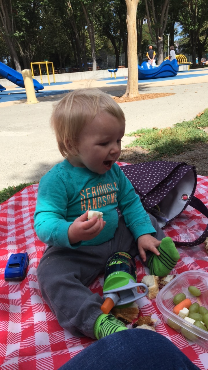 Excited about the park picnic