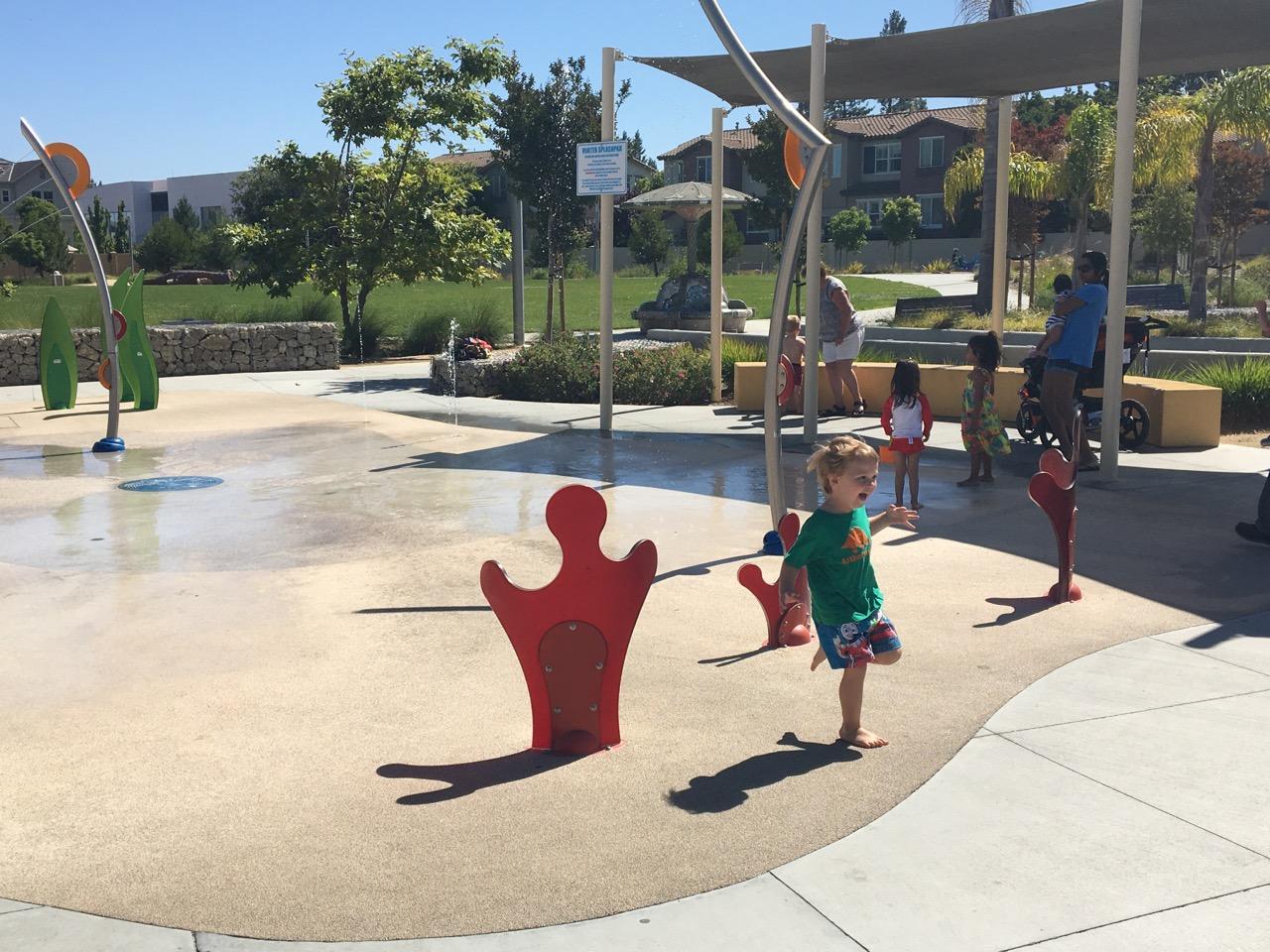 Splash pad fun (July)