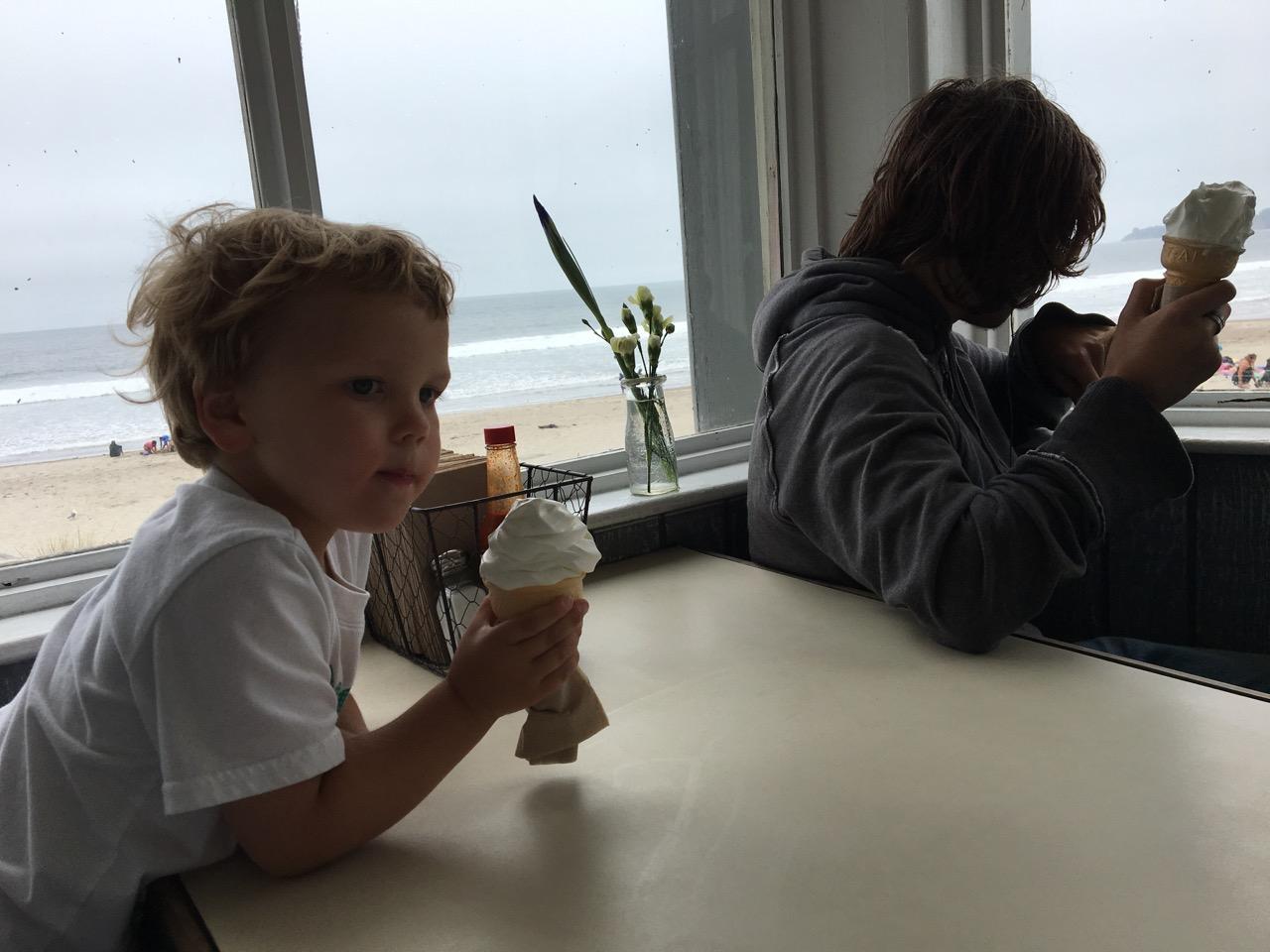 Ice cream at the beach (July)