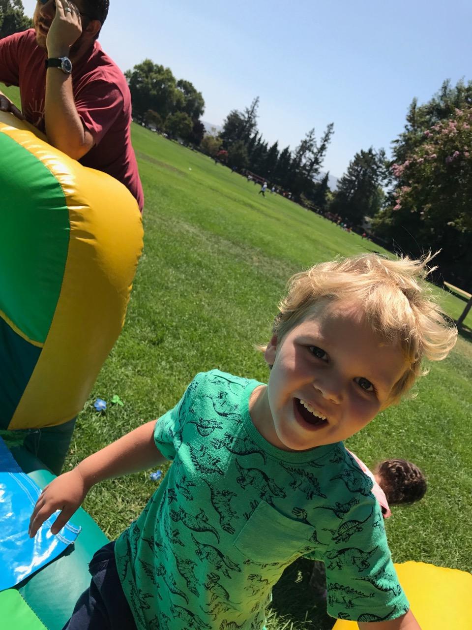 Bounce house fun (August)