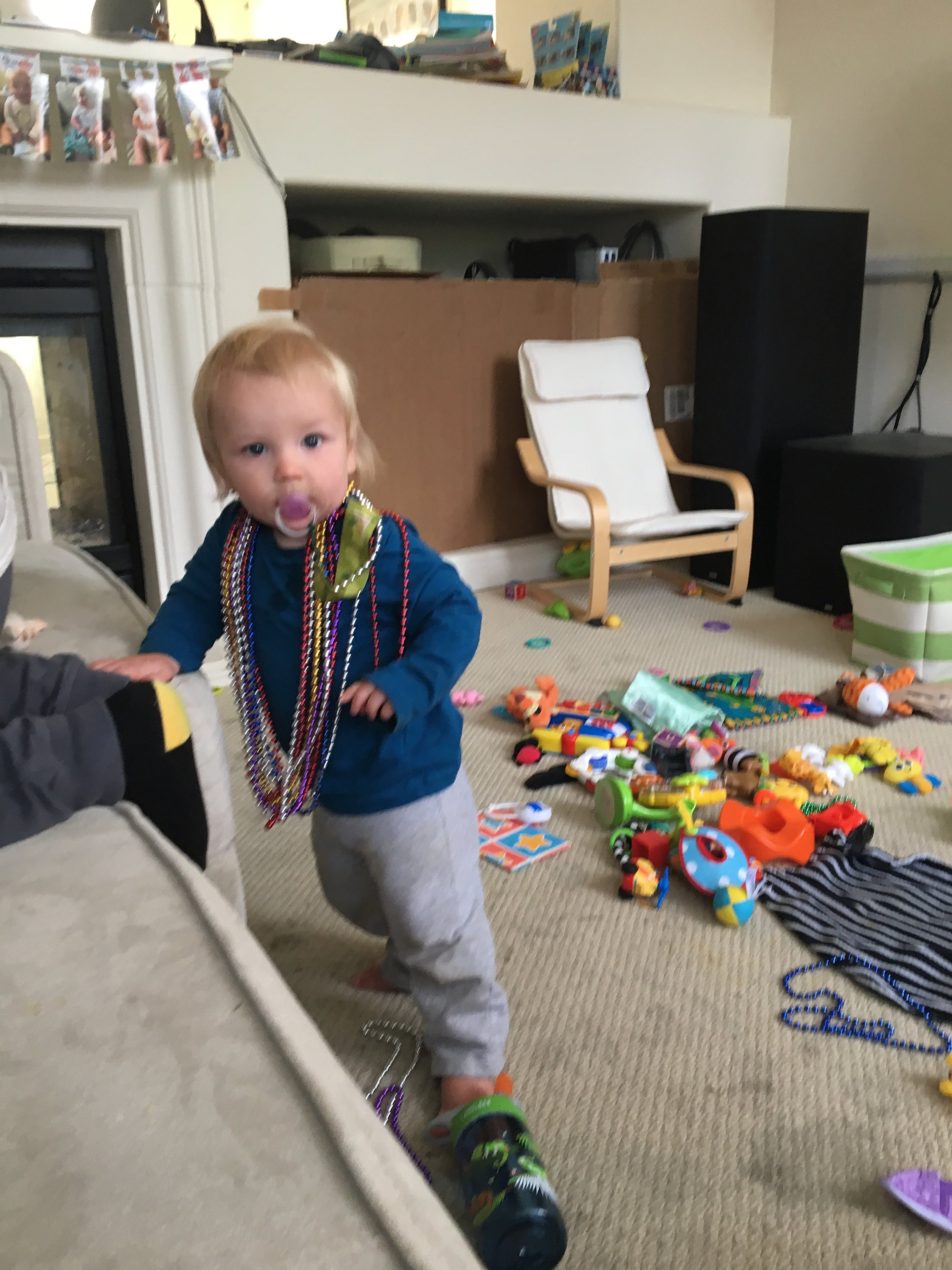 Wearing all the beads