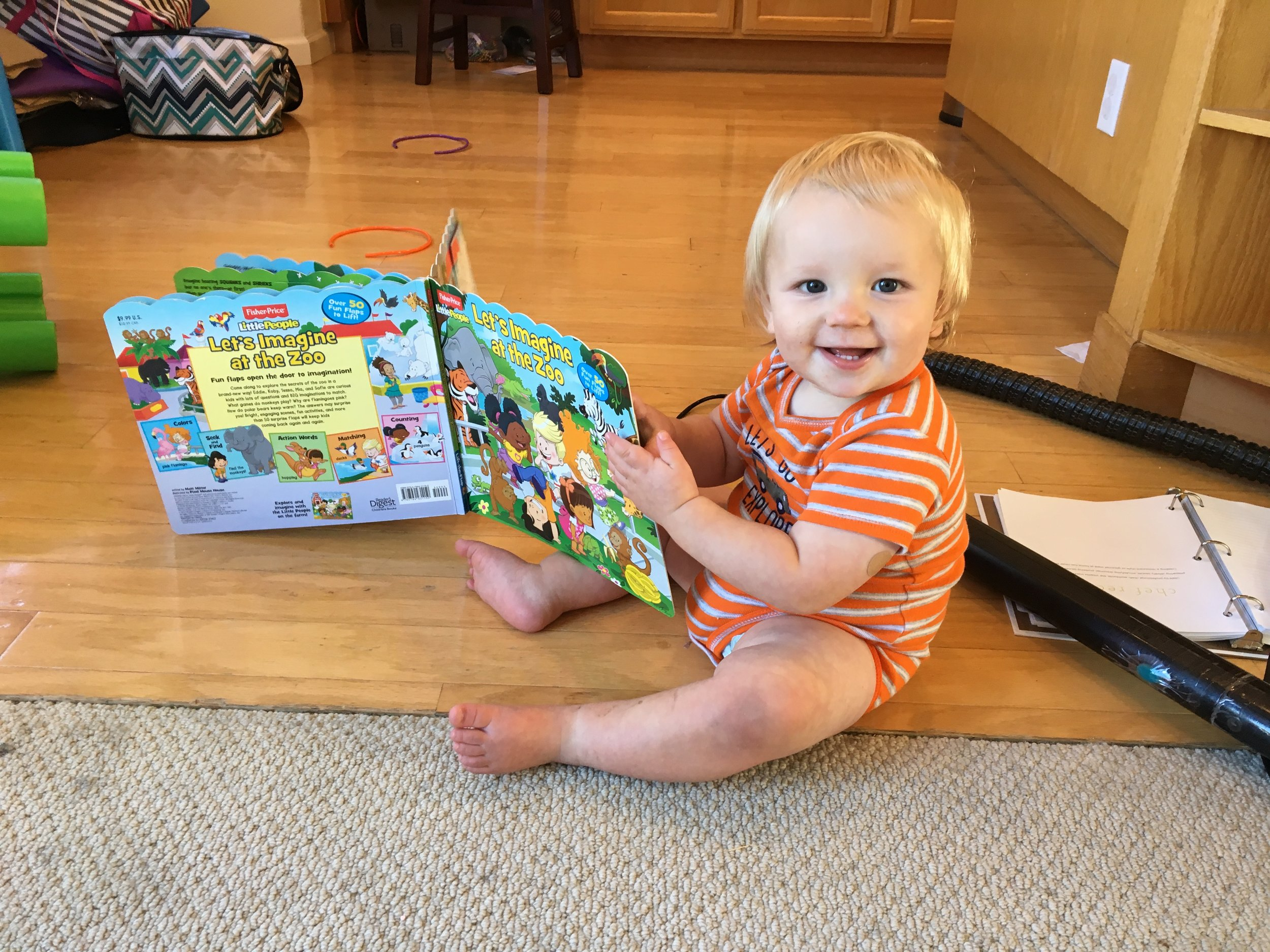 """""""Reading"""" his new book"""