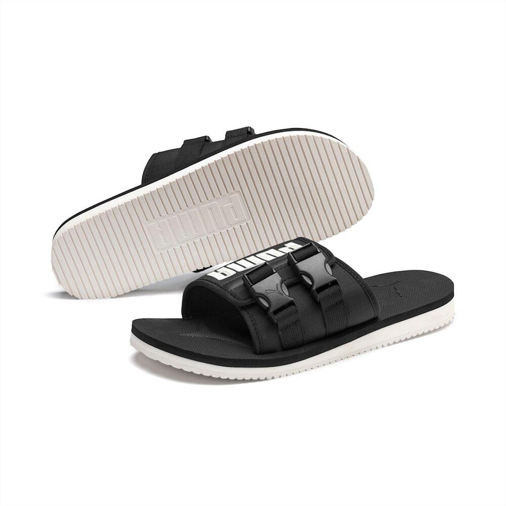 Puma Wilo Lux Nylon Slides in Black — MAJOR