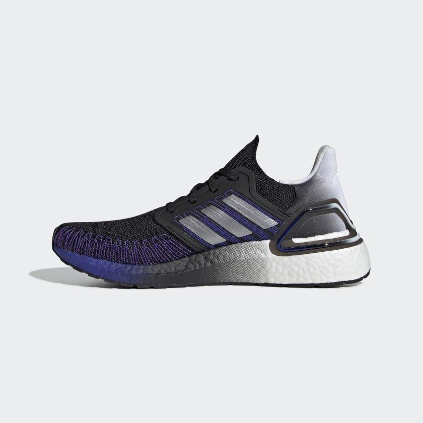 Adidas UltraBoost 20 in Black/Silver