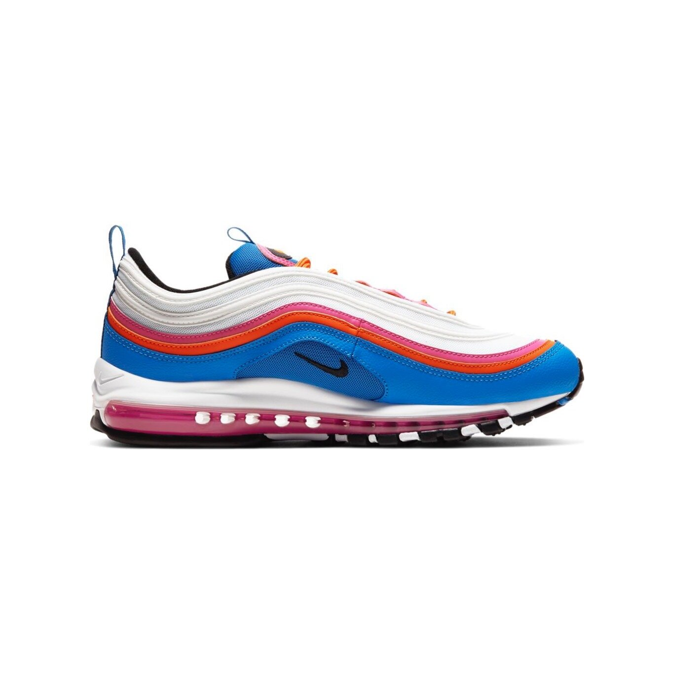 Nike Air Max 97 In White Black Active Fuchsia Major