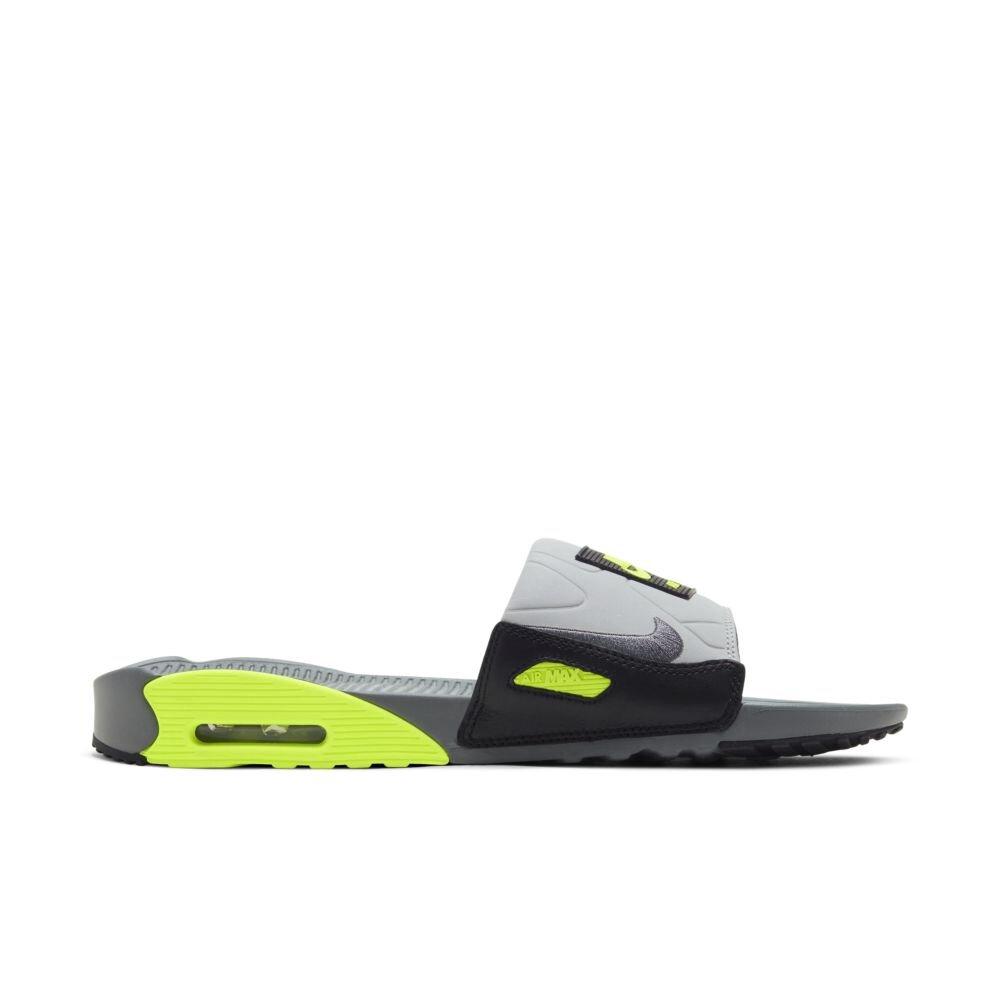 Nike Air Max 90 Slide in Grey/Volt — MAJOR