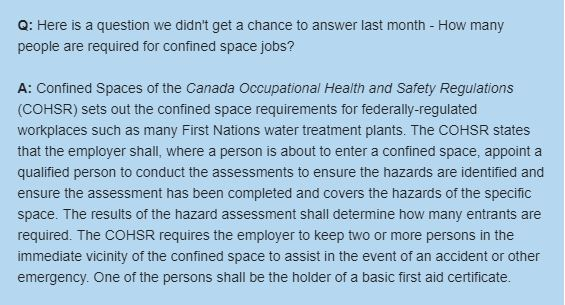 How Many People Are Required for Confined Space Jobs?