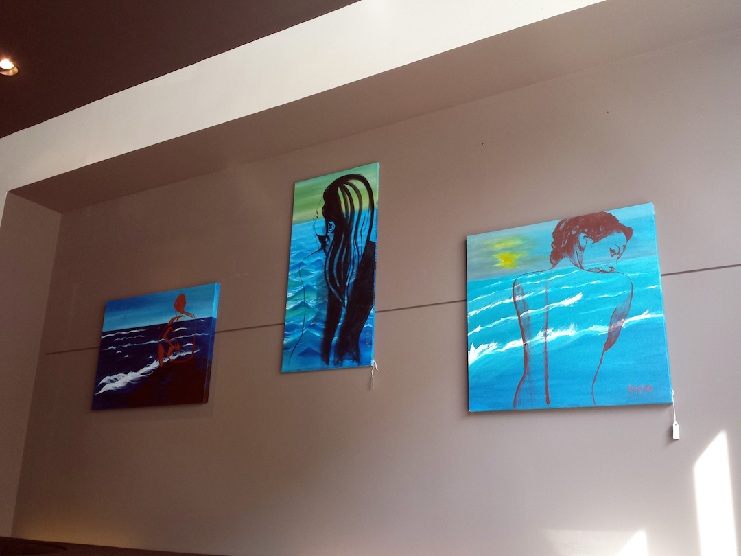 """My Ocean Within"" Series - 3.5ft (106cm) x 2.5 ft (76cm) / 4ft (122cm) x 2ft (60.96cm) / 3ft (91.44cm) x 3ft (91.44cm)"