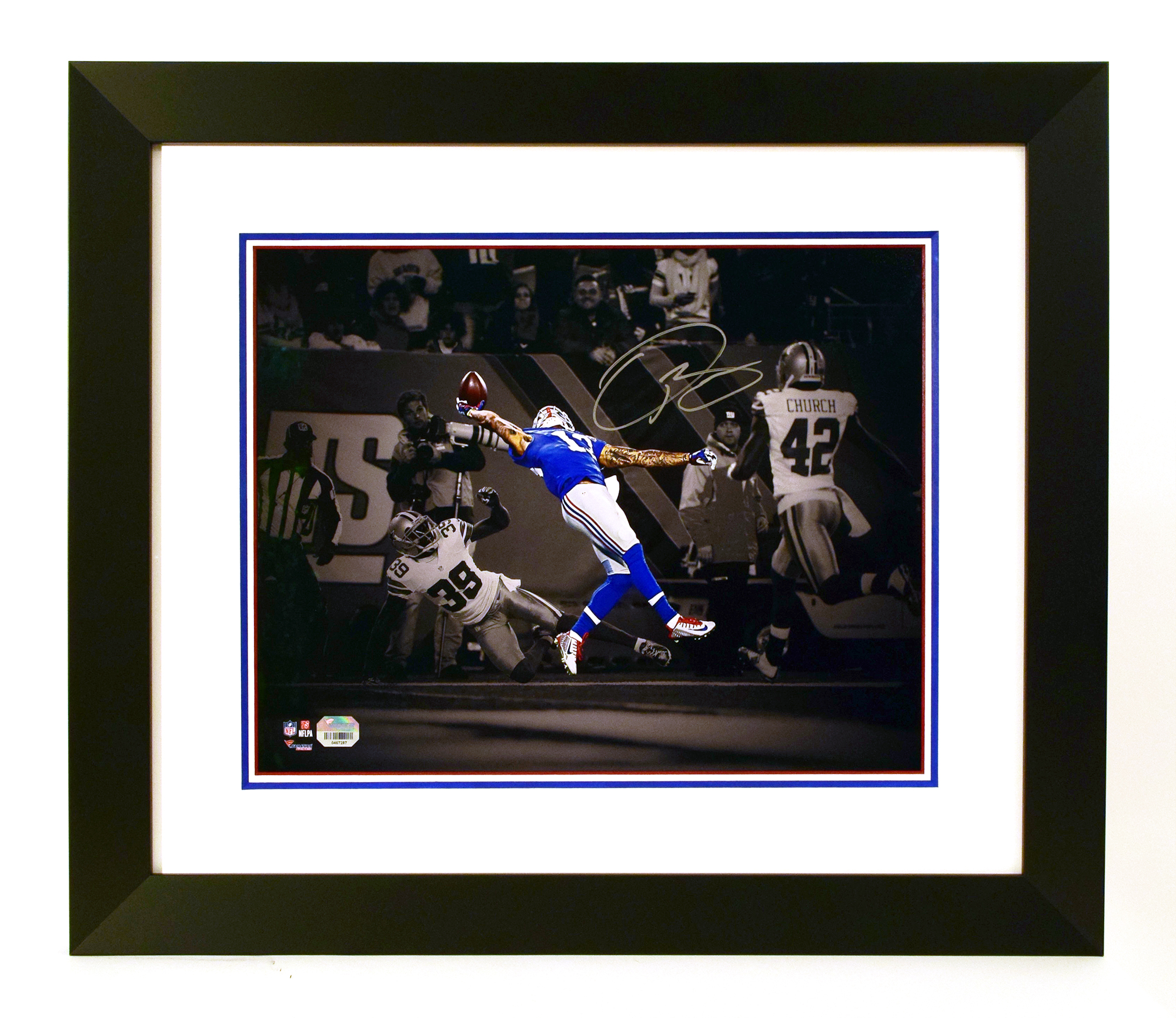 Double Painted Mat Signed Football Photo