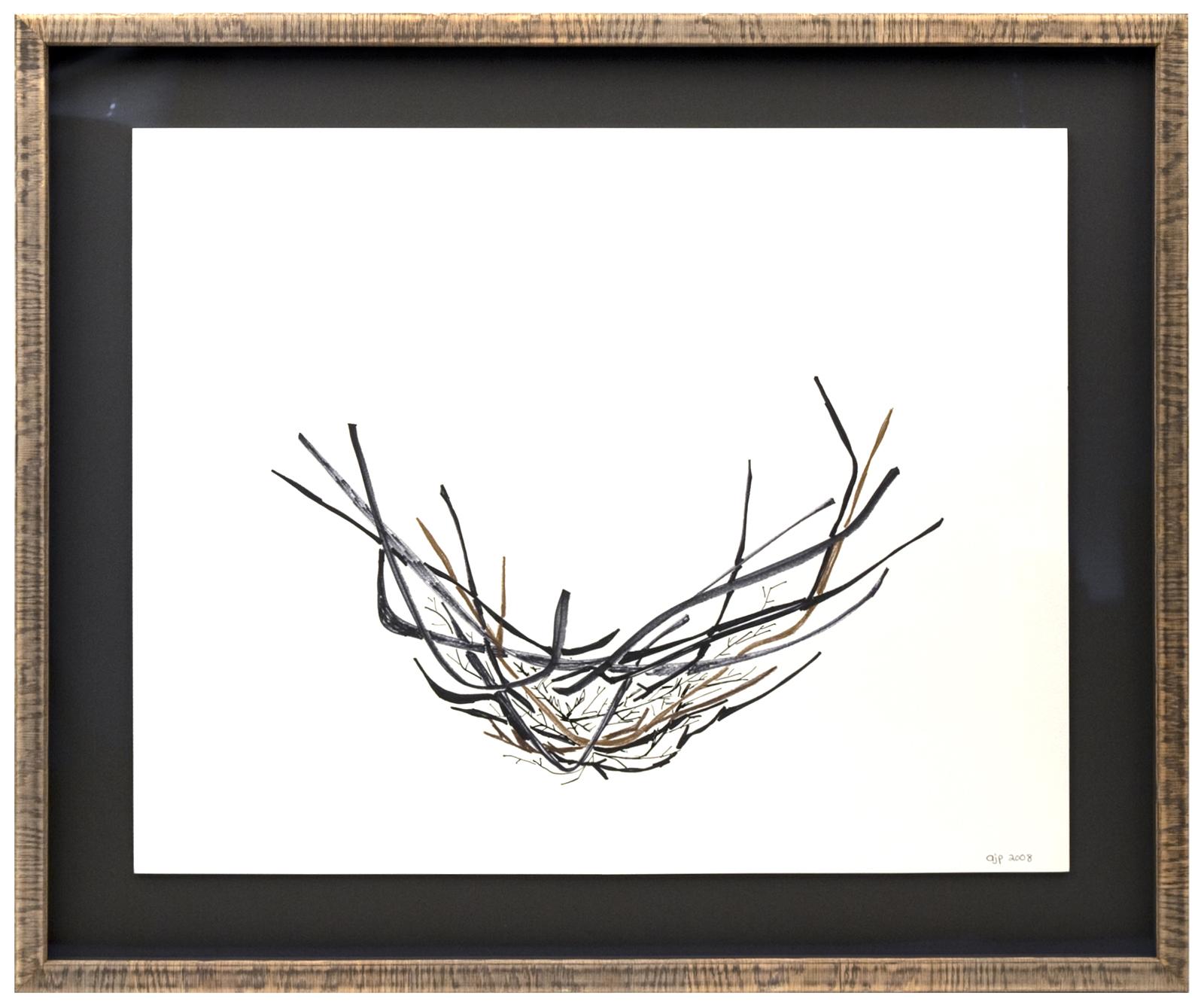 Nest Artwork with Modern Framing