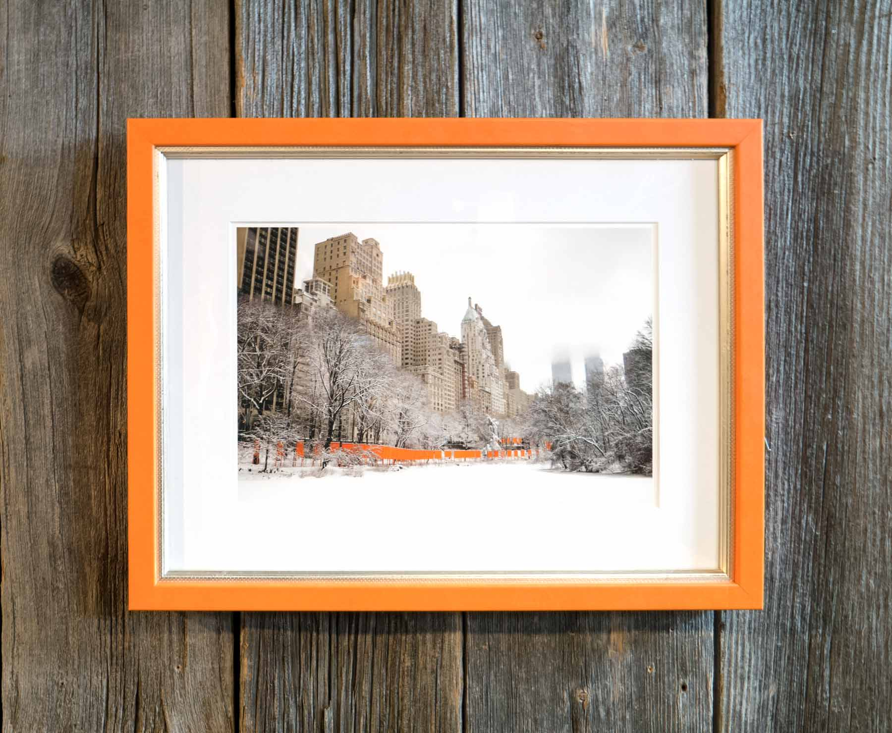 """Christo's """"Gates"""" framed in Orange Hibiscus from the Malecon collection."""