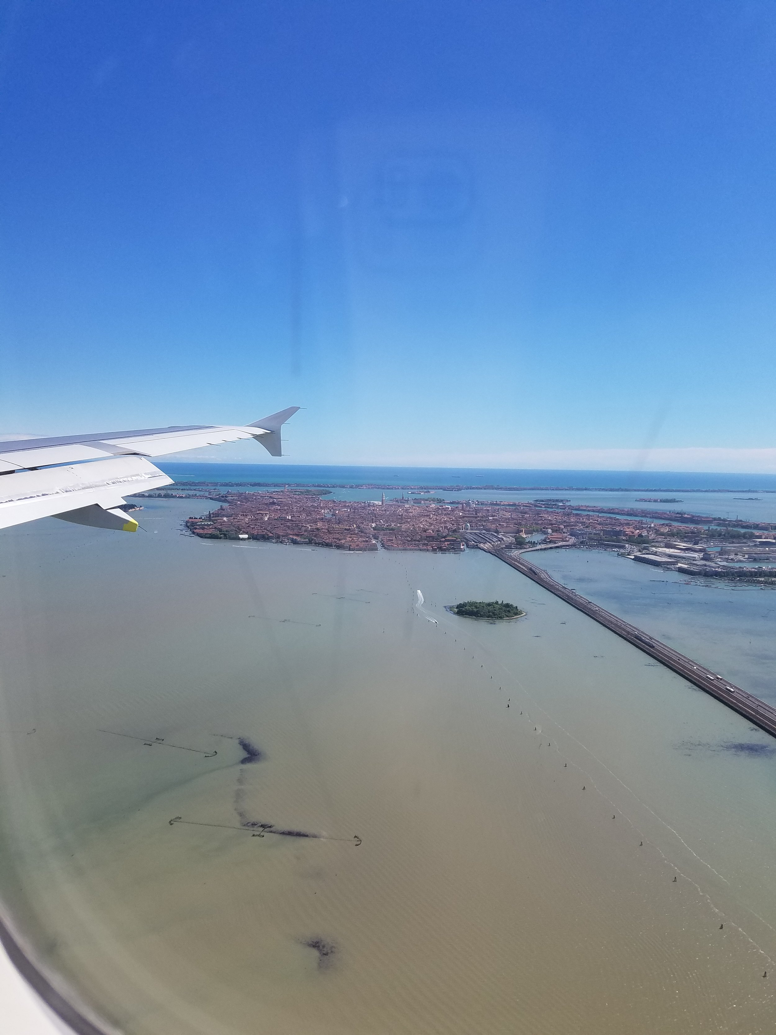 Landing at Marco Polo Airport in Venice.