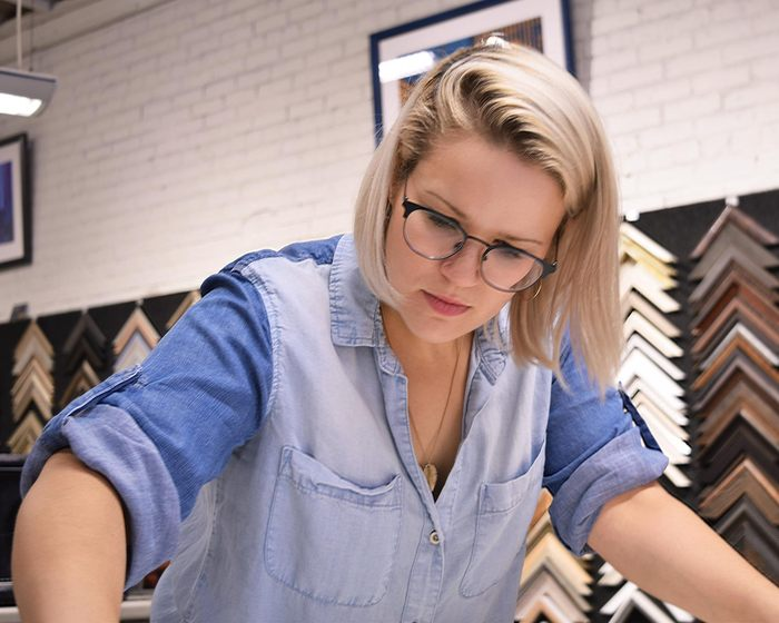Meet The Team: the lovely Lara hard at work in our Lincoln Park showroom.