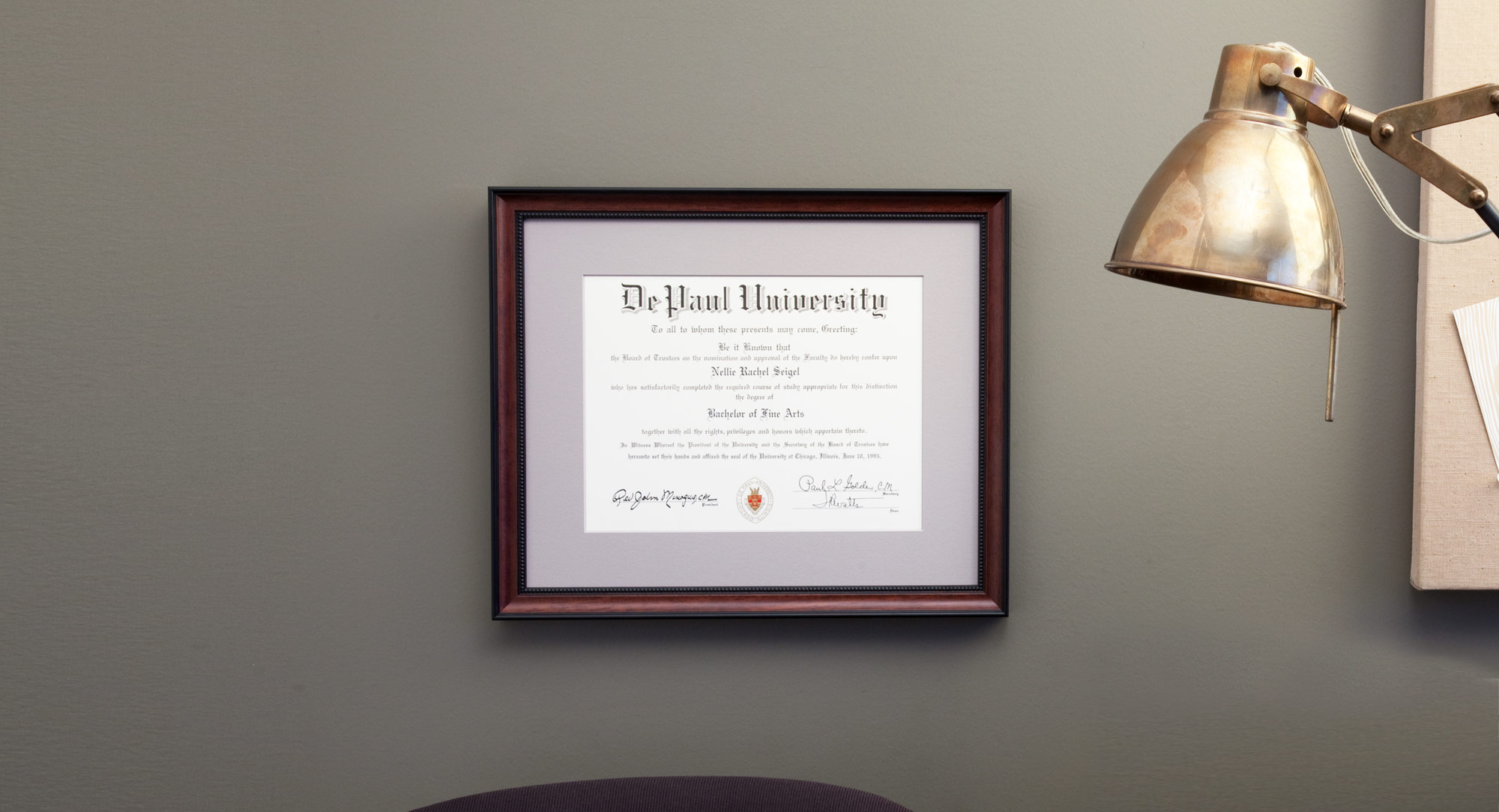 - Graduation SpecialYou spent enough earning that diploma, so frame it the smart way.Our custom diploma framing package includes a fine wood frame, single conservation-quality mat and UV-filtering glass. All for $99. It's a no-brainer.