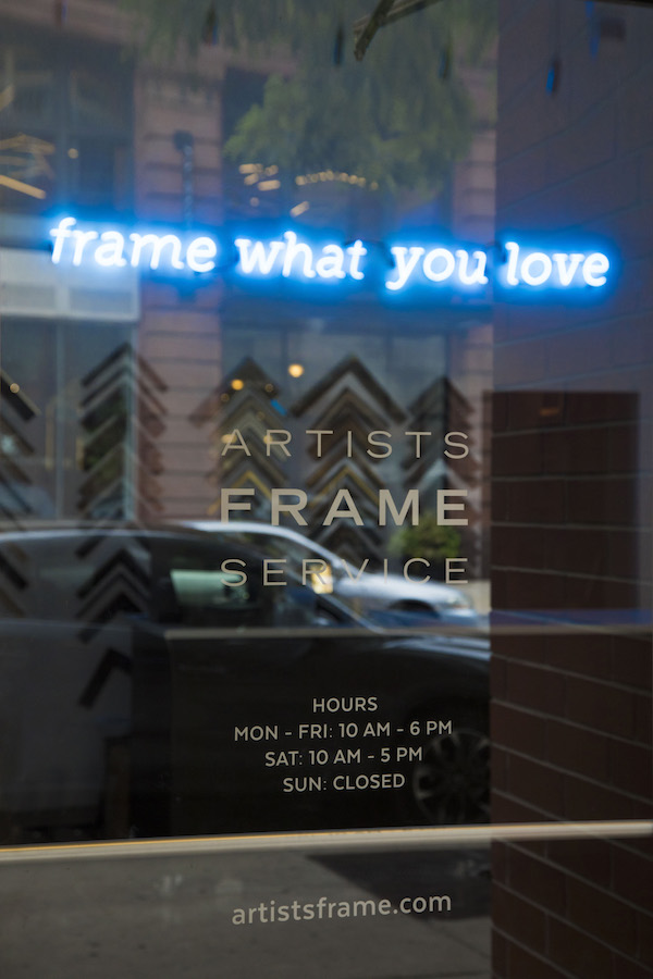 The sign says it best - we believe you should #framewhatyoulove.