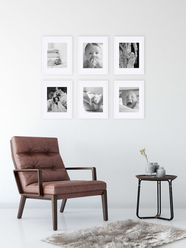 Another classic option?  The Six Grid . We especially like this one for black and white photography (that we can also  print  for you!). It also comes in an arrangement of  nine .