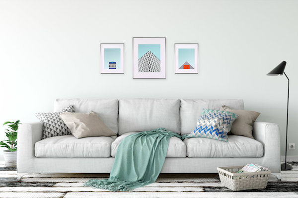 Like the symmetry of The Triptych but want a little more variation?  The Trio  is the one for you then. This look includes one 16x20 and two 11x14 frames.
