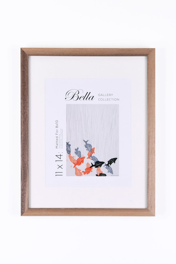 Speaking of gallery frames, our  European-crafted frames  are the antidote to the mass produced store options. Made by framing experts, choose from a variety of sizes, styles and finishes. We think the walnut one in particular would look amazing to liven up white walls.    Walnut Gallery Frame   From $56.00