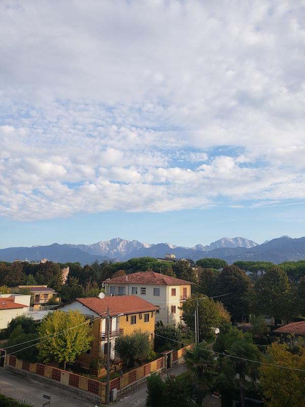 The majestic hills in Carrara.