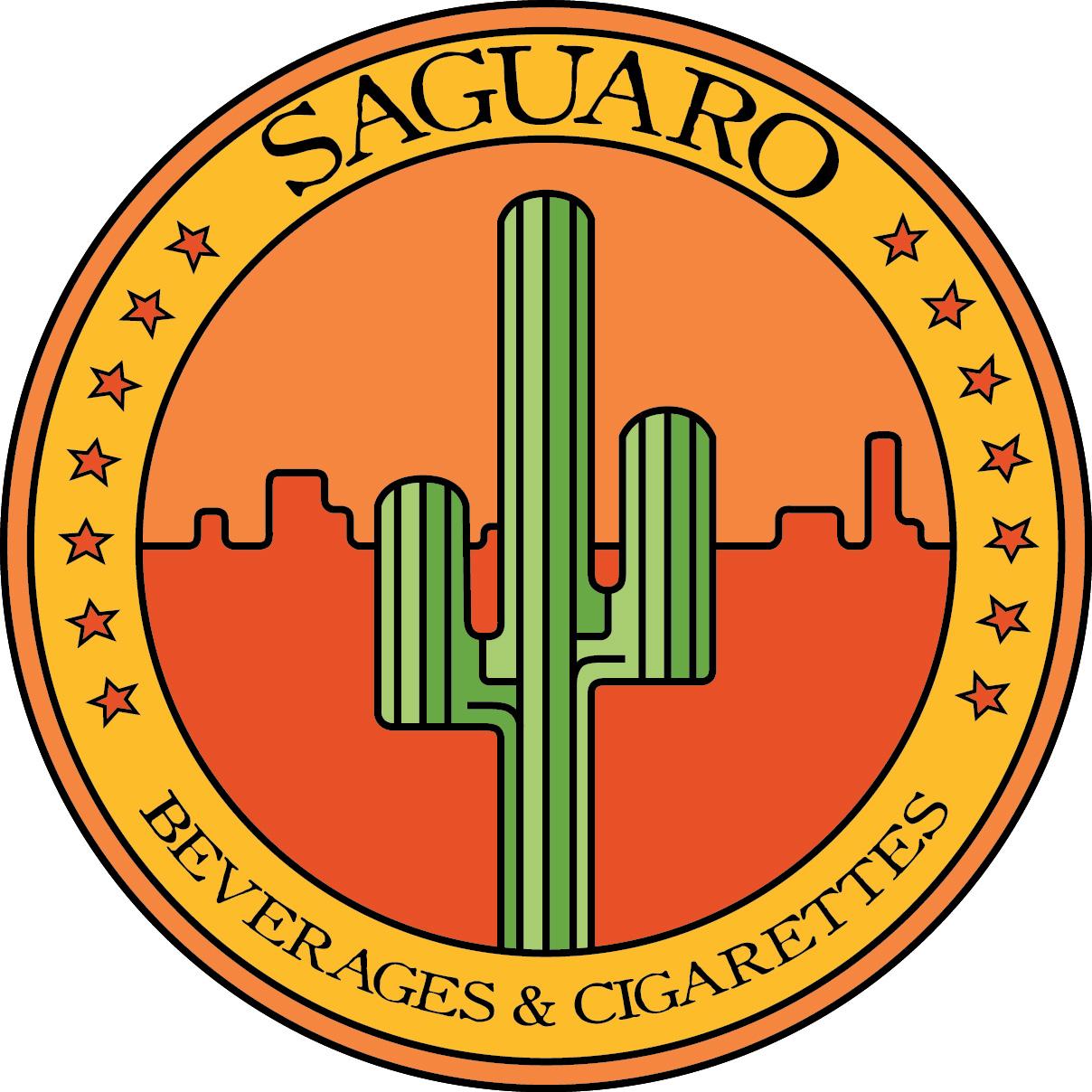 A saguaro, the brand's flagship image.