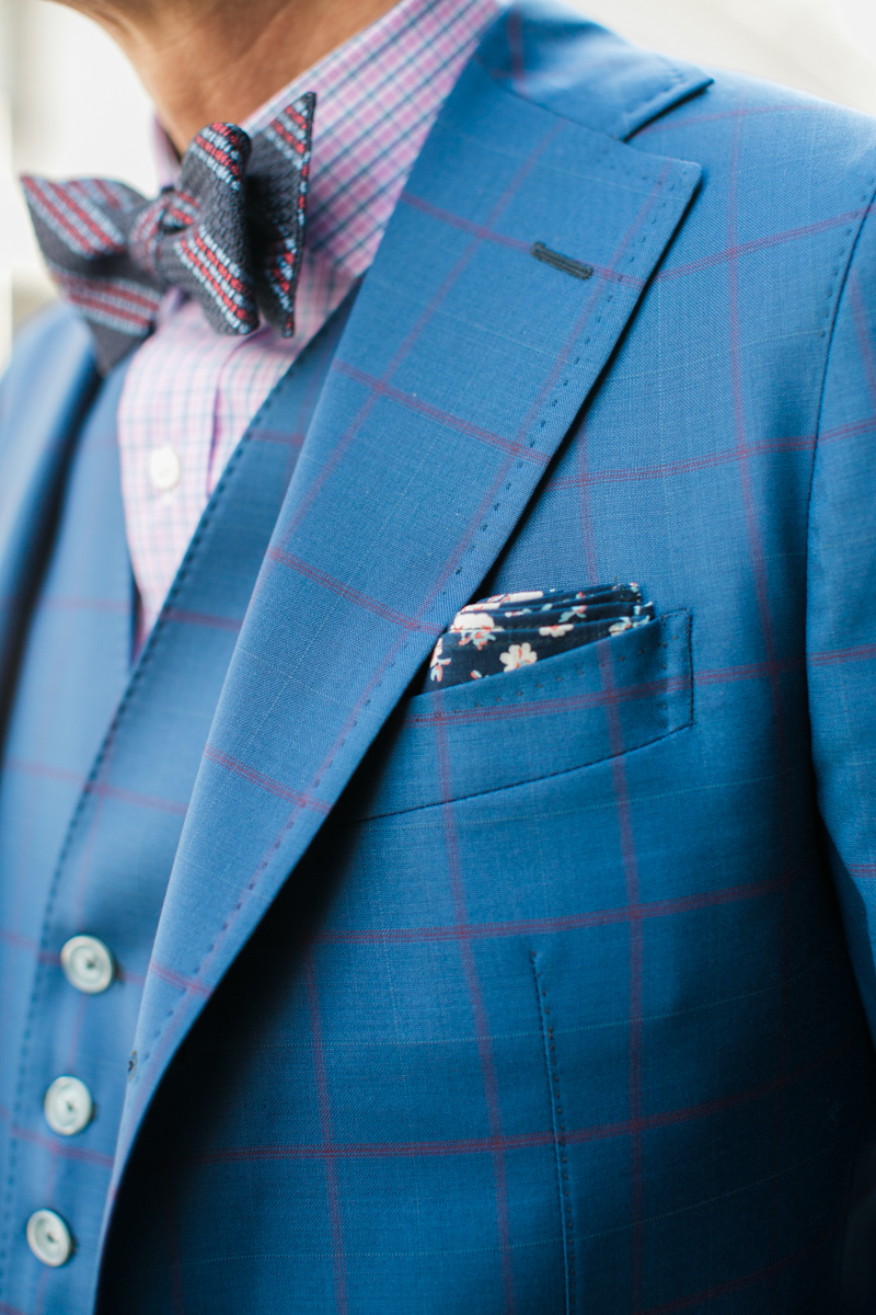 The stitching that you see along the edge of the lapel and edge of pocket is called pick stitching.  It's hand sewn and is a sign that your suit is not just a factory made suit.  Does this make it a better suit?  Not necessarily, but suit nerds like me appreciate the hand sewn craftsmenship.